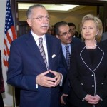 Hillary Clinton with Ekmeleddin Ihsanoglu, head of the Organization of Islamic Cooperation