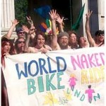 The only decent photo we can find of the London World Naked Bike Ride