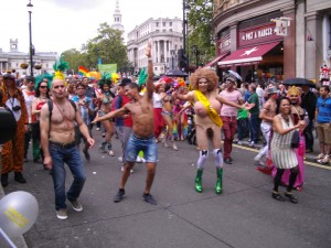 Participants in the Tesco-funded 2012 London 'Gay Pride' parade.