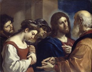 Guercino (1591–1666) La donna adultera - The Woman in Adultery