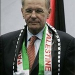 Jaques Rogge pictured in Forbes Magazine wearing Palestinian colours