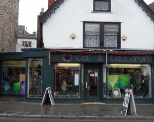The Cat and Cauldron witchcraft shop in Glastonbury