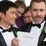 Chris Teoh (left) and homosexual activist Ivan Hinton, had their 'marriage' overturned.