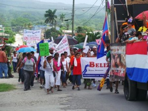 An estimated 600 Belizeans turned out in San Ignacio on July 10, 2013 to oppose the inclusion of 'sexual orientation' in the country's gender policy.
