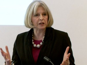 Theresa May is in favor of increasing internet surveillance in Britain.