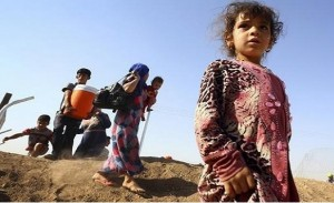 Thousands of Iraqi Christians have fled to the Khazer refugee camp after the ISIS ultimatum.
