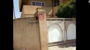 Muslims spray paint the houses of Christians in order to know which houses to confiscate.