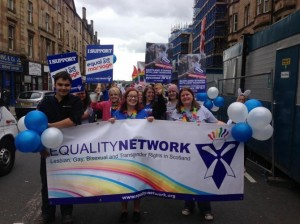 'Equality Network' at Glasgow Gay Pride 2013