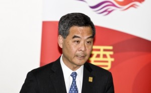 Leung Chung-Ying, Chief Executive of Hong Kong, has spoken of outside interefrence in the democracy protests.