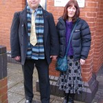 Michael Overd with his wife Rachel outside Taunton Magistrates Court in 2012.