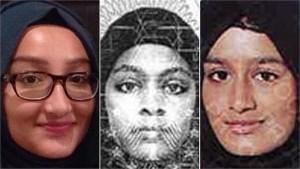L - R Kadiza Sultana, Amira Abase and Shamima Begum