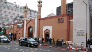 East London Mosque lies in the heart of Tower Hamlets