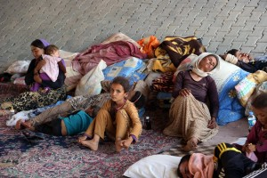 Yazidid refugees displaced by Islamic State