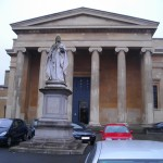 Queen Victoria stands in front of Worcester Shire Hall, where the Family Court sits.