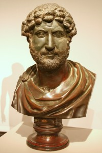 The Emperor Hadrian as a bust in the Altes Museum in Berlin.