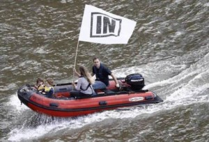 Jo and Brendan Cox joined Bob Geldof's tirade against fishermen on the Thames the day before her tragic murder.