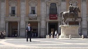 The author outside the Palazzo dei Conservatori