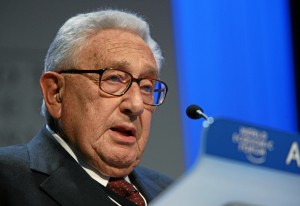 Henry Kissinger at the World Economic Forum in Davos in 2008