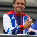 Tom Daley with his bronze medal from London 2012.  He was expected to win gold in Rio.