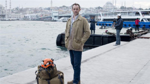 White Helmets founder British insider James Le Mesurier standing on the Eminonu docks in Istanbul, Turkey, where he trained the 'White Helmets'