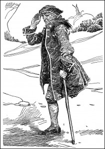 Frank Godwin's representation of Treasure Island's Long John Silver