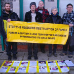 Protestors support 'EL' outside Canterbury Family Court