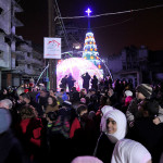 Celebrating Christmas in Aleppo last month.