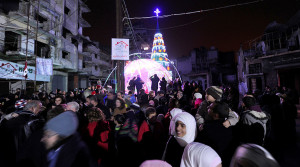 Celebrating Christmas in Aleppo December 2016.
