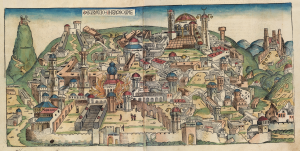 The fall of Jerusalem in the Nuremberg Chronicle from 1493.