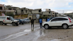 Signs of hope - Syrian engineers prepare to repair the water supply to Damascus