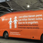 The anti-transgender bus is currently impounded in Madrid