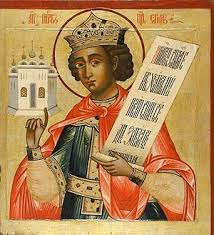 A possible representation of king Lemuel, which means 'devoted to God'.