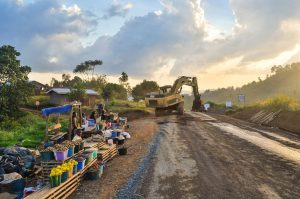 Road-building in Africa: making paths straight, mirroring the way of the Lord.