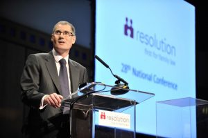 Nigel Shepherd, seen here at a 'Resolution' conference, is arguing for no-fault divorce