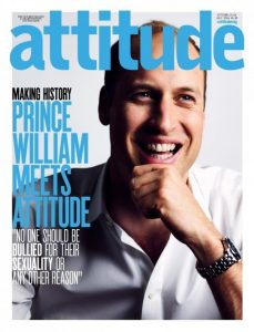 Prince William on the cover of gay magazine Attitude