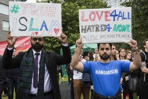 Ahmadi slogans - but is this the 'True Islam' fallacy?