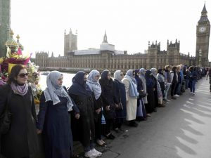 The Muslim women on Westminster Bridge were all Ahmadi
