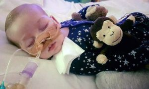 Charlie Gard in Great Ormond Street Hospital