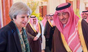 Theresa May getting on a bit too well with Saudi Arabia's Crown Prince Muhammad bin Nayef