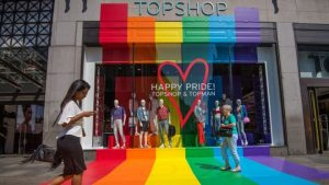 Topshop being more progressive than thou at London Gay Pride this weekend.