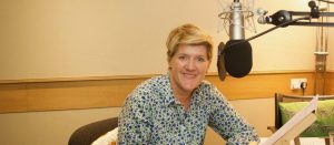 Clare Balding recording a podcast promoting homosexuality for the National Trust