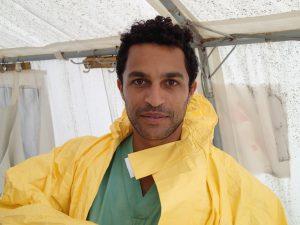 Dr Javid Abdelmoneim doing what he does best: emergency medicine