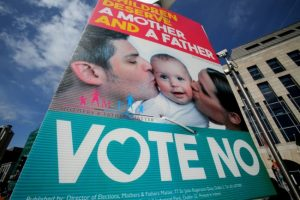 'Vote No' campaigners stressed the family