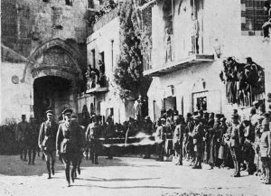 General Allenby entering Jerusalem on foot on 11th December 1917