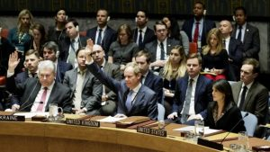 The UK voted against USA recognition of Jerusalem earlier this month in the UN Security Council