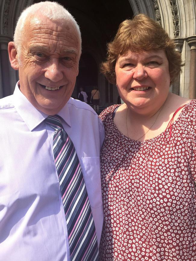 David Bryant with his wife Lynn.