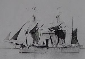 HMS Daphne's sister ship, HMS Dryad (1866) - together they struck fear into the hearts of Arab slave traders.