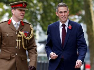 Rt Hon Gavin Williamson MP, HM Secretary of State for Defence (R)