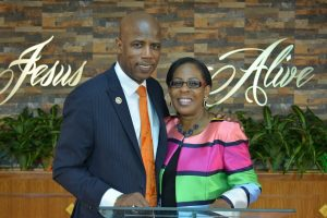 Bishop Dr. Victor Gill and his wife Tracey Gill.