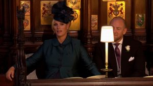 Zara Tindall sat glued to her seat as Bishop Michael spoke of the power of love.